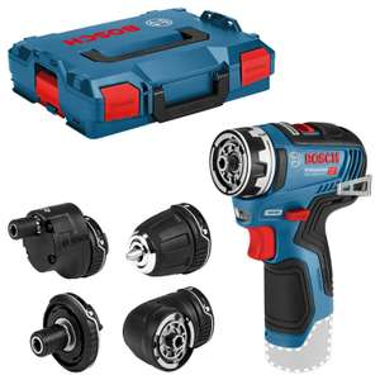 Perceuse sans fil Bosch GSR 12V-35 FC sans batterie / chargeur avec 4 accessoires en L-Boxx