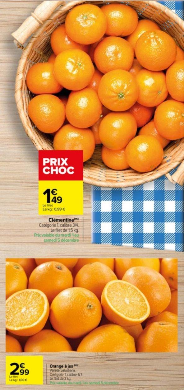 Clémentines ou d'oranges - 1Kg