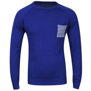 Pull Homme Brave Soul - Bleu royal ou Bleu marine (Taille S à XL)