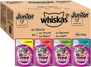 Lot de 84 sachets Whiskas Junior en sauce