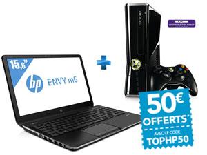 PC Portable HP Envy M6-1262SF 15,6'' + Console XBOX 360 4 Go