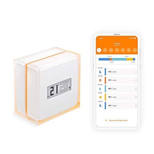 Thermostat connecté Netatmo NTH01-EN-EC - Compatible Google Home, Alexa, Apple HomeKit