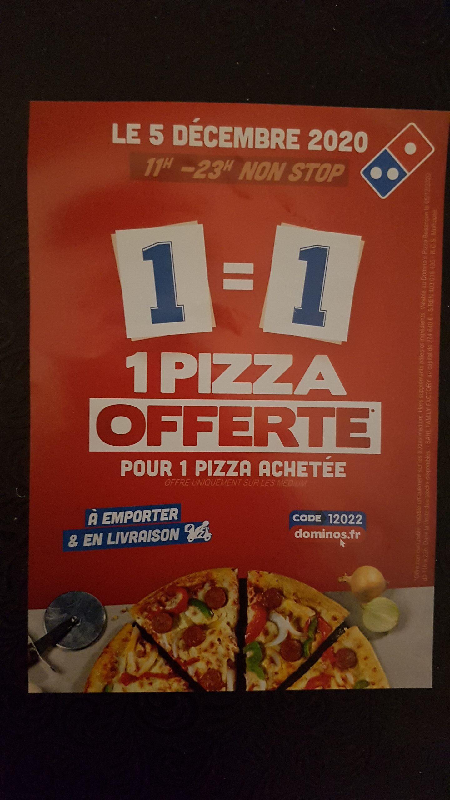 1 pizza achetée = 1 pizza offerte - Besançon (25)