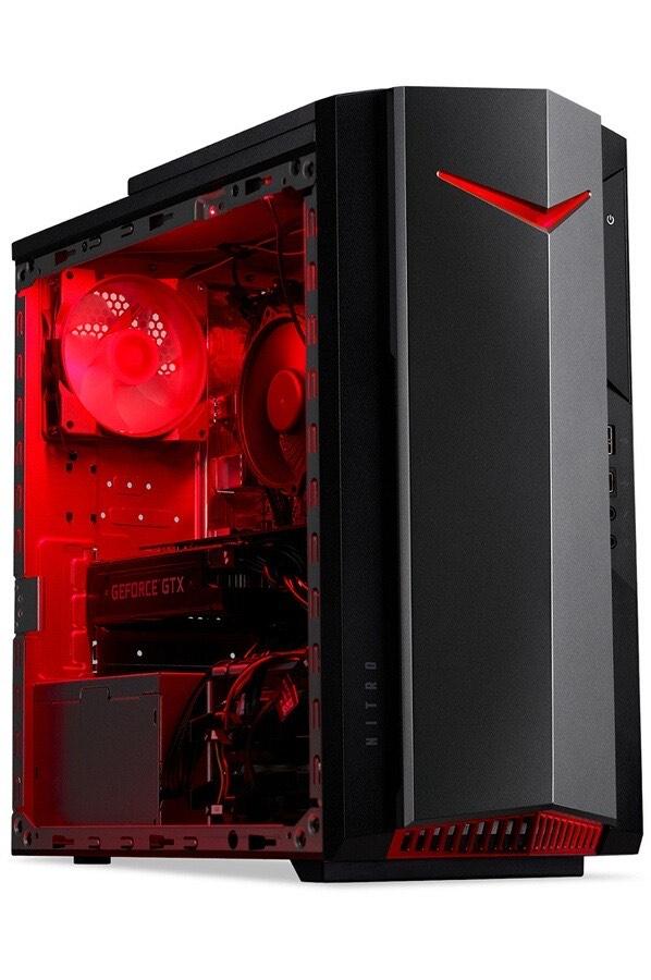 PC de bureau Acer Nitro N50-610 - i5-10400F, 16 Go de Ram, 512 Go SSD, GeForce GTX 1660 6 Go (via ODR de 100€)