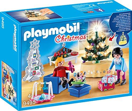 Jouet Playmobil Christmas - Famille et Salon de Noël n°9495