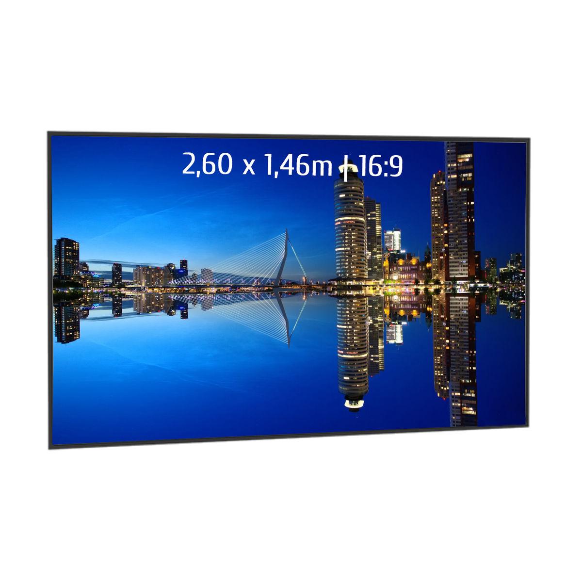 Ecran de projection 16:9 sur cadre - 2,60 x 1,46m (kimexinternational.com)
