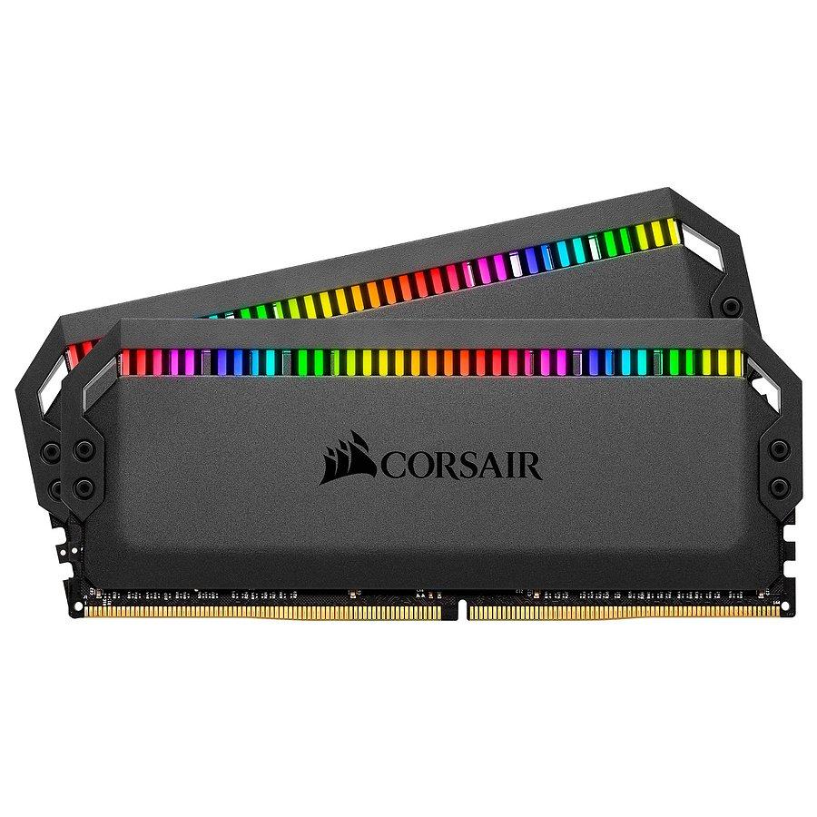 Kit Mémoire DDR4 Corsair Dominator Platinum RGB Black - 2 x 8 Go (16 Go), 3600 MHz, CL18