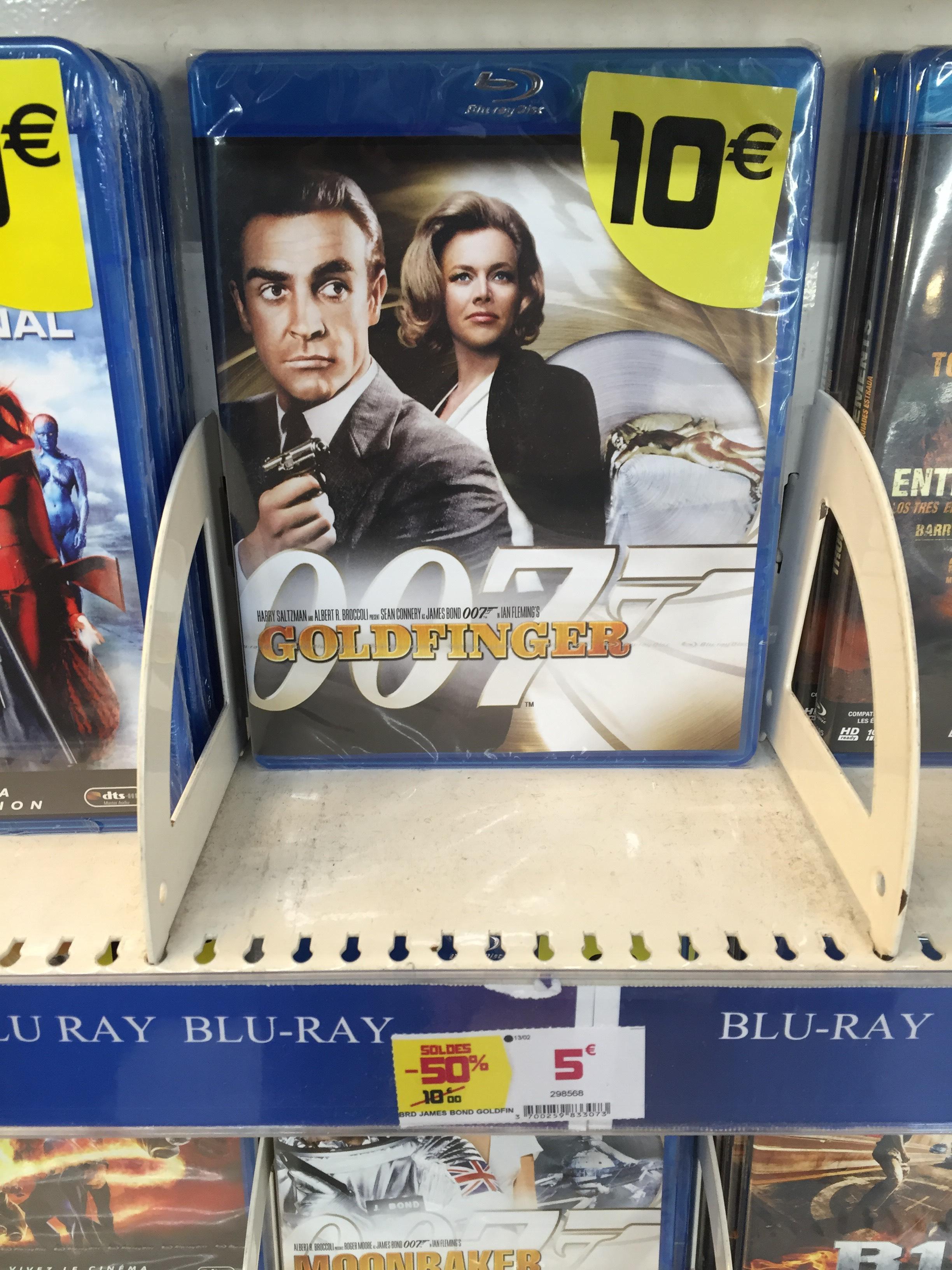 Sélection de Blu-ray à 5€ ou 7€ - Ex : James Bond Goldfinger