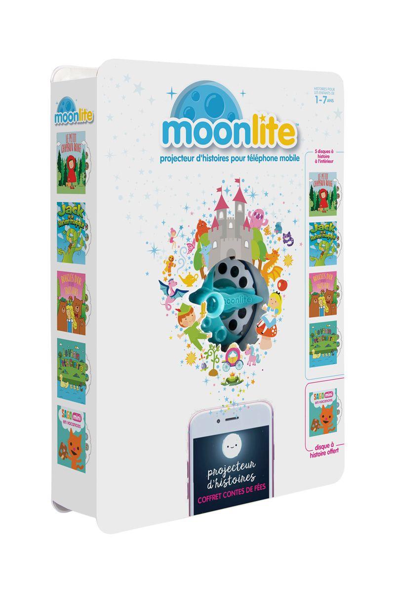 Projecteur d'histoires et 5 histoires Moonlite - Dès 12 mois