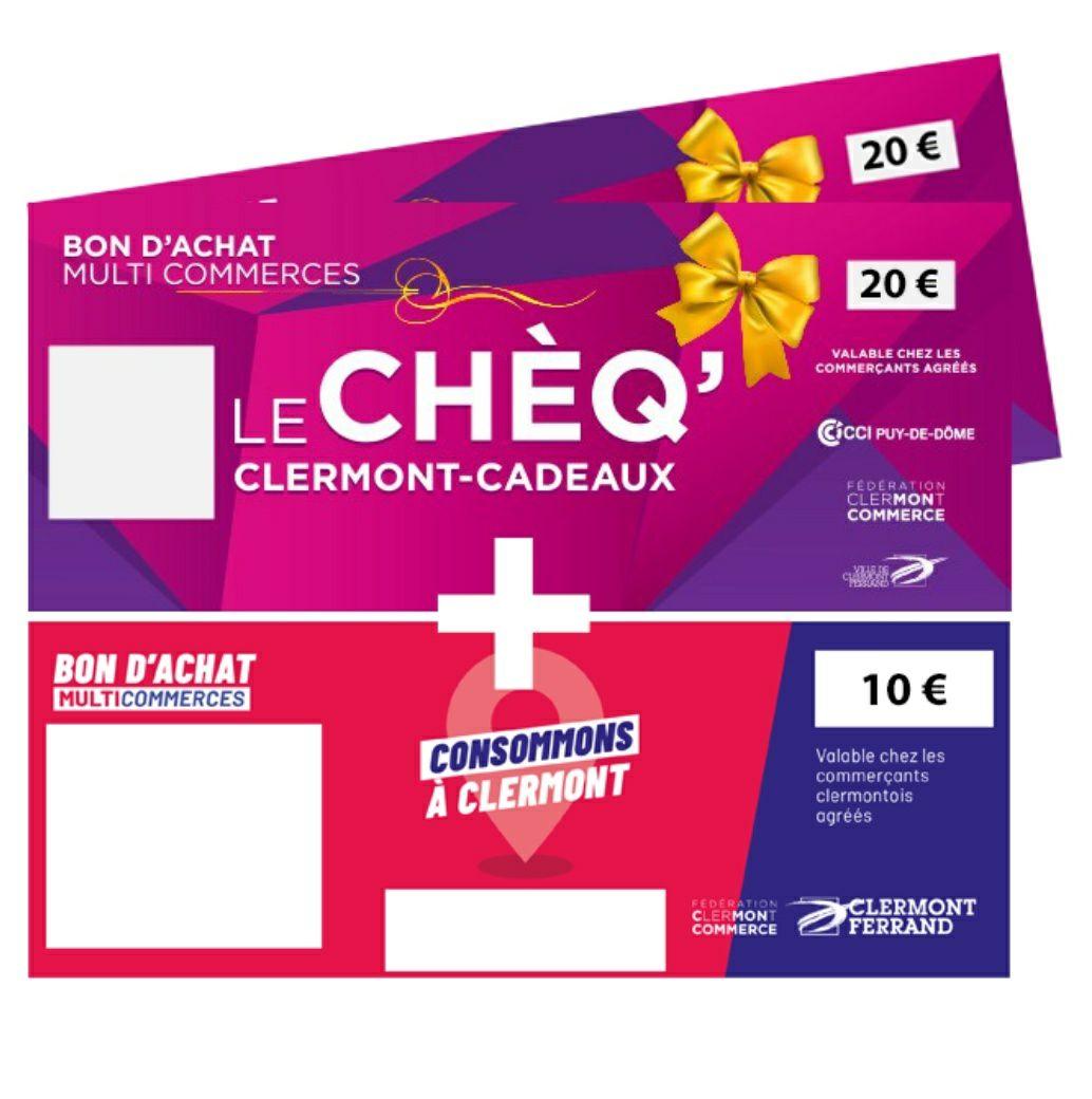 Chèque cadeau commerçant de 50€ pour 40€ - Clermont Ferrand (63)