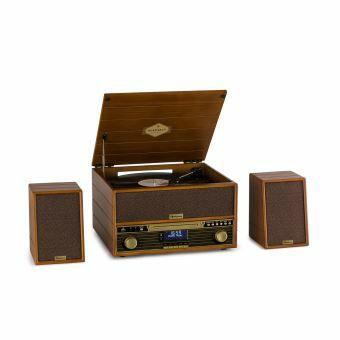 Chaine Stéréo Auna Belle Epoque 1910 - Platine Vinyle, lecteur CD & tuner FM, 2 X 5W RMS (Vendeur tiers)