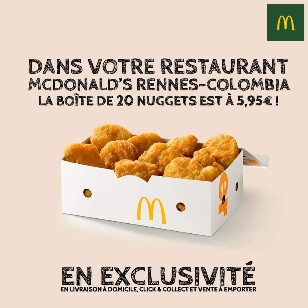 La boîte de 20 nuggets à 5.95€ - Rennes (35)