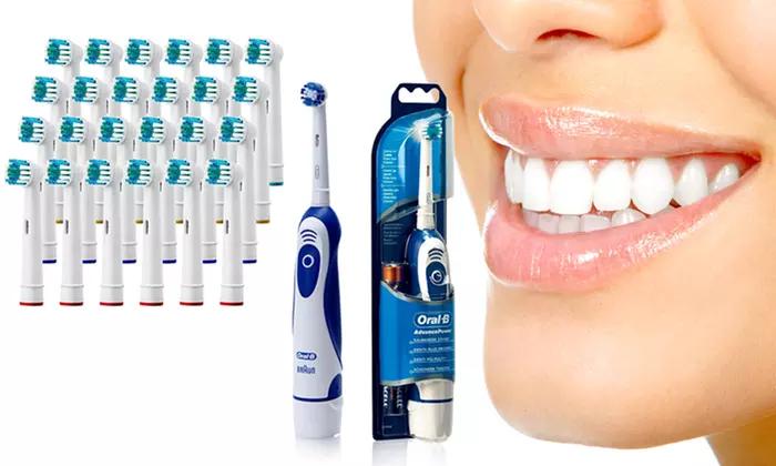 Brosse à dents Oral B Advanced Power 400 + 24 têtes de rechange