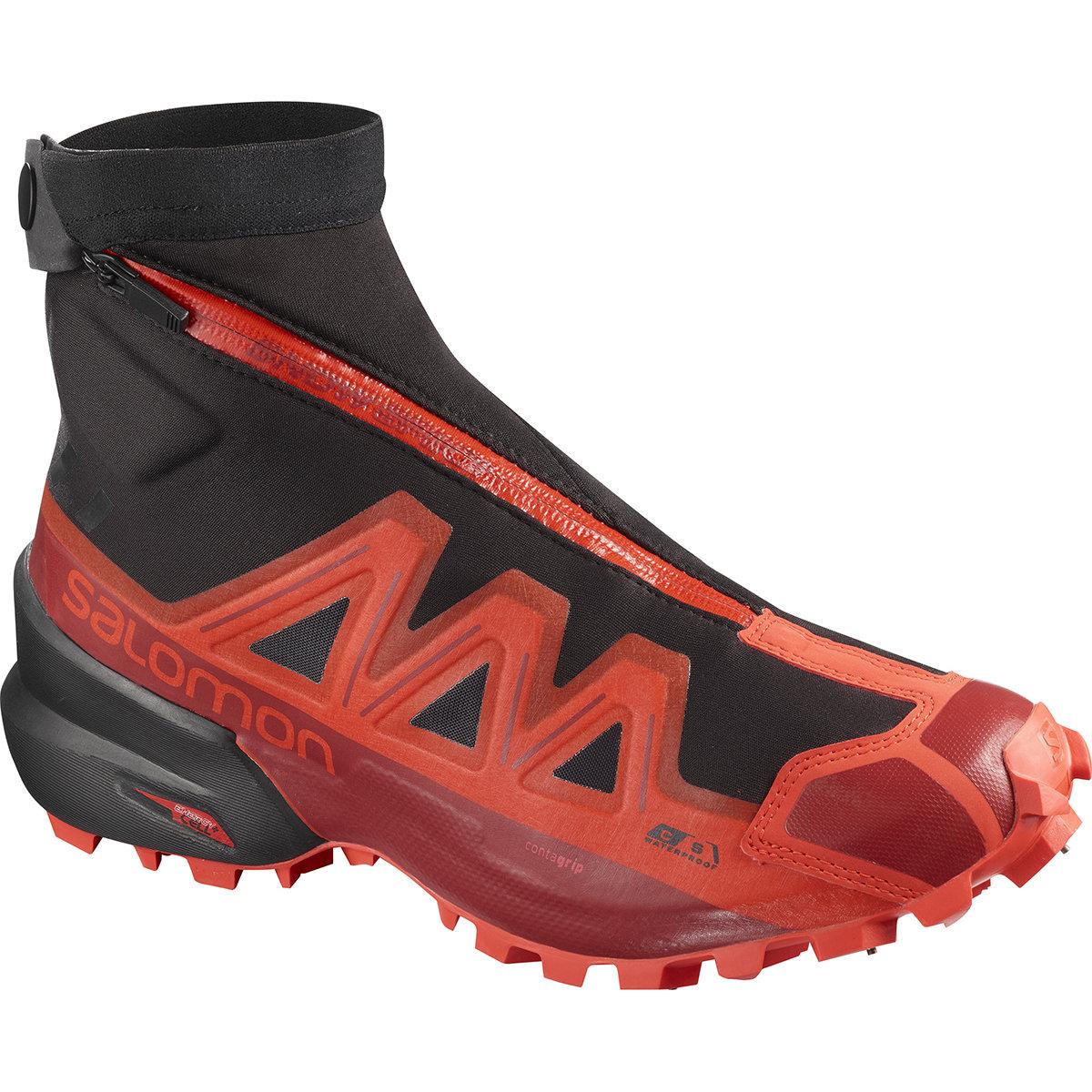 Chaussures running Salomon Snowspike Cswp Black/rd/rd Dahlia 2020
