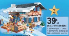 Playmobil Family Fun Les Sports d'Hiver 9280 - Chalet avec skieurs