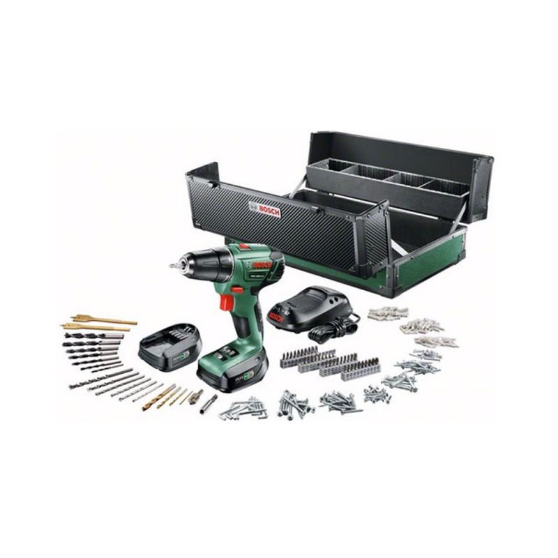Bosch Perceuse sans fil PSR 1440 LI-2 - 14,4 V 1.5 Ah, 2 batteries + 241 accessoires