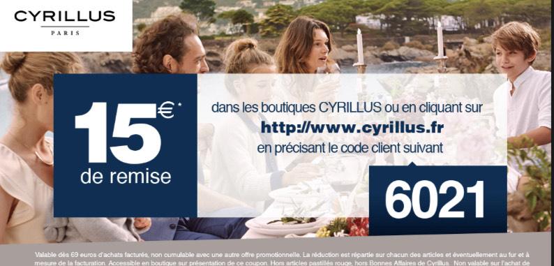 15€ de réduction dès 69 € d'achat + livraison offerte