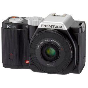 compact hybride Pentax K-01 16 Mpix Noir + Monture Optique DA 40 mm XS