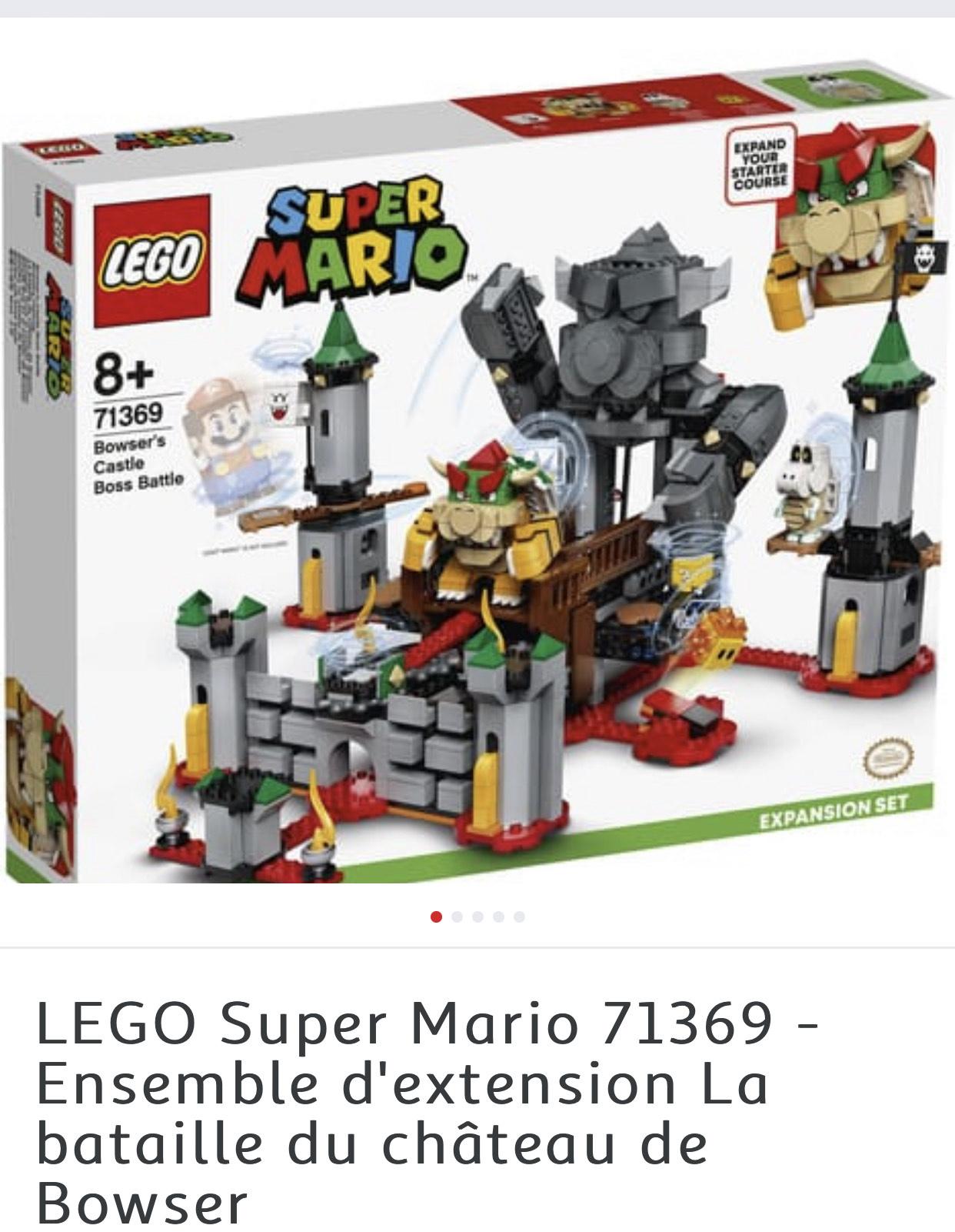 Lego Super Mario 71369 - Ensemble d'extension La bataille du château de Bowser