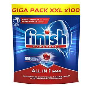 Paquet de Pastilles Lave-Vaisselle Finish Powerball All in One Max - 100 Tablettes