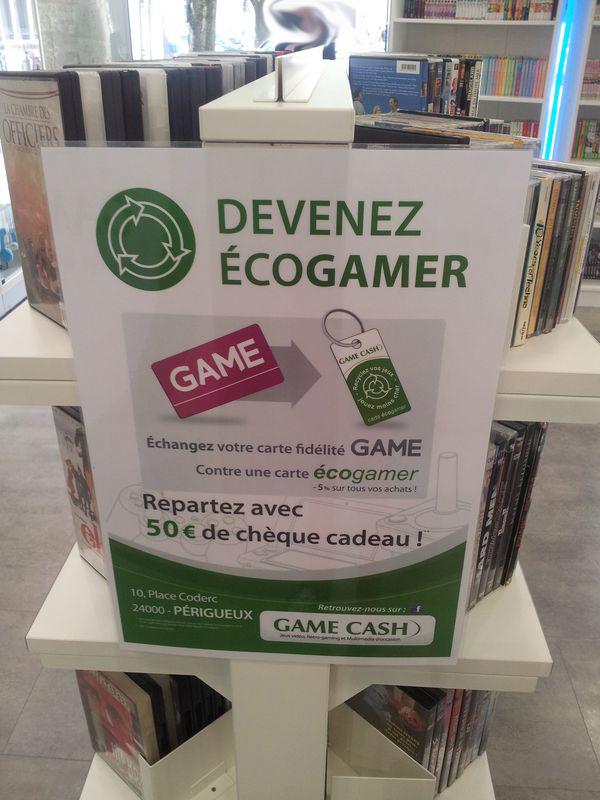 50€ de chèques cadeau Game Cash en échange carte GAME