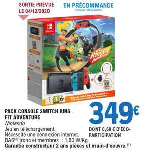 Pack Console Nintendo Switch + Ring fit Adventure
