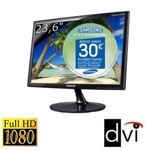"""Ecran PC 23,6"""" Led Full HD Samsung S24B300BLZ (ODR 20€ en chèque kadeos inclus dans le prix)"""
