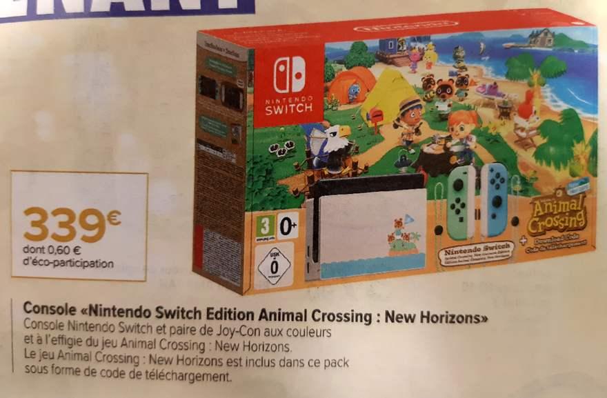 Pack Console Nintendo Switch + Animal Crossing New Horizons (jeu en dématérialisé)