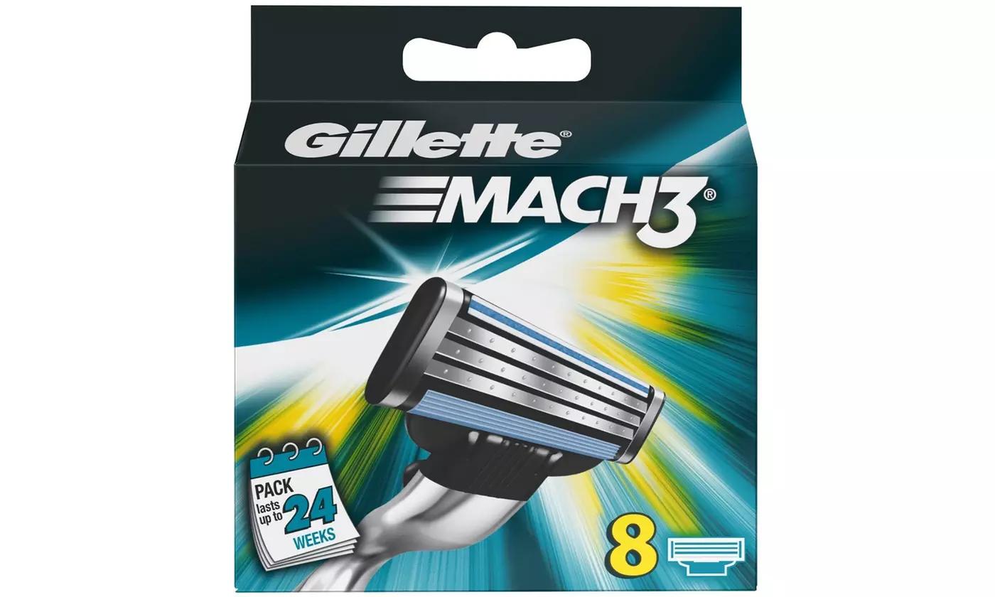 Pack de 8 Lames de Rasoir Gillette Mach3 ou Pack de 10 Lames de Rasoir Gillette Sensor Excel
