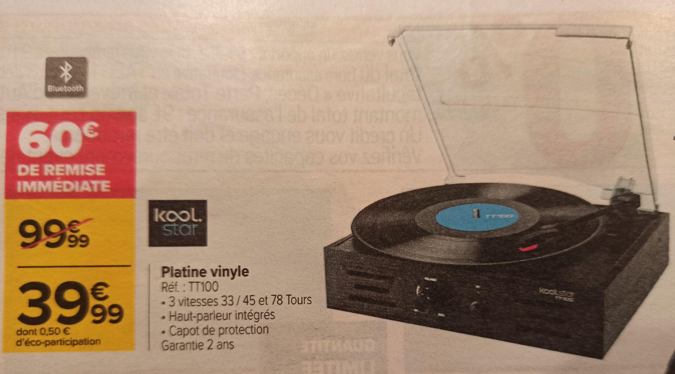 Platine vinyle TT100
