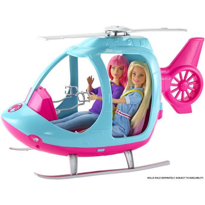 Hélicoptère 2 places avec hélice rotative Barbie - 41 cm