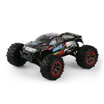 Voiture RC 1:10 Xinlehong 9125 - 2.4G, 4WD, noir/rouge (entrepôt ES)