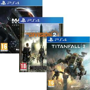 Titanfall 2, The Division 2 ou Mass Effect Andromeda sur PS4 (vendeur tiers)