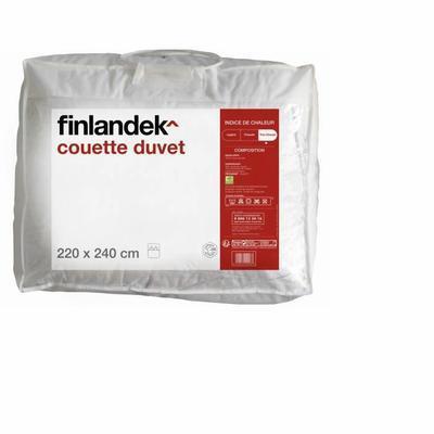 Couette Duvet  220 x 240 cm blanc Finlandek