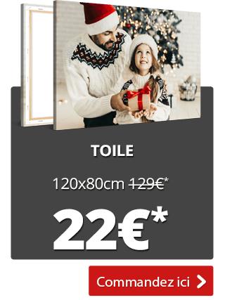 Sélection de photos sur toiles XXL à 22€ - Ex : 120x80 cm