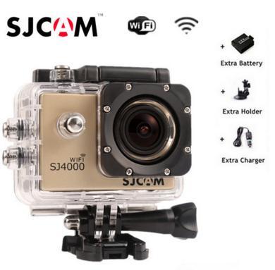 Caméra sportive SJCAM SJ4000 (Wifi) + 1 Batterie + 1 support + 1 chargeur voiture