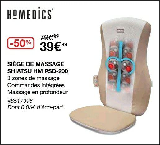 [Carte CostCo] Siège de massage Homedics Shiatsu HM PSD-200 - Villebon sur Yvette (91)