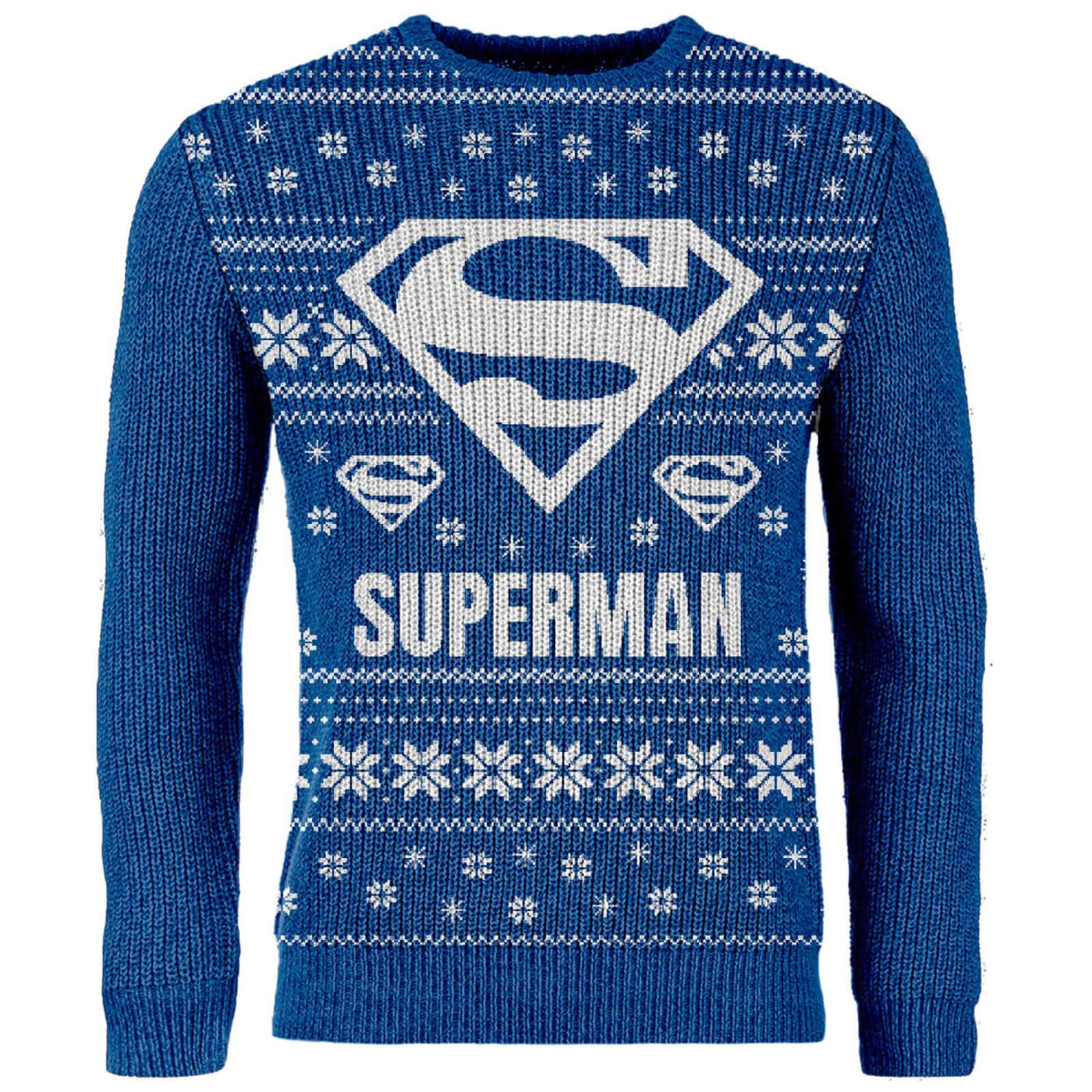 Pull de Noël brodé DC Comics - Superman