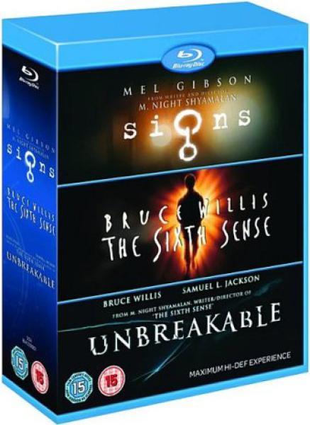 Coffret Blu-ray M. Night Shyamalan (Signes, Sixième Sens et Incassable)