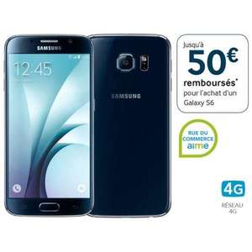 "Smartphone 5.1"" Samsung Galaxy S6 32 Go - Plusieurs coloris (ODR de 50€)"
