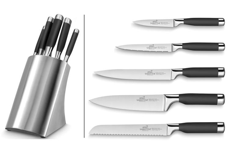 Bloc de 5 couteaux Sabatier International Inox (couteauxduchef.com)