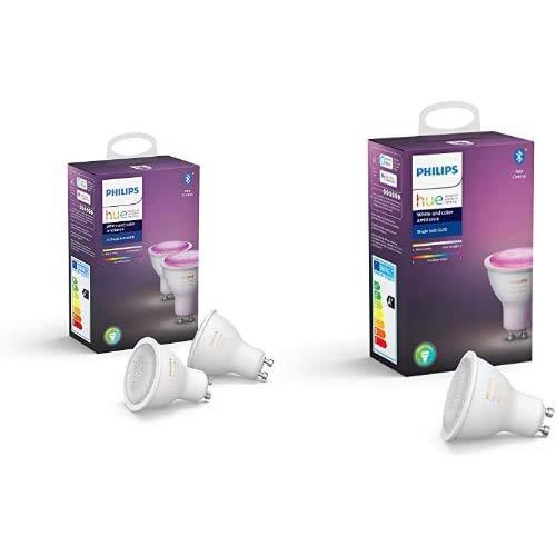 Pack de 3 Ampoules LED connectées Philips Hue White & Color GU10 (3ème génération) - Bluetooth