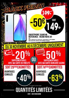 """Smartphone 6.3"""" Xiaomi Redmi Note 8T - 64 Go (via 20% sur la carte fidélité, 74.5€ via 50% cagnottés pour les porteurs CB Casino)"""