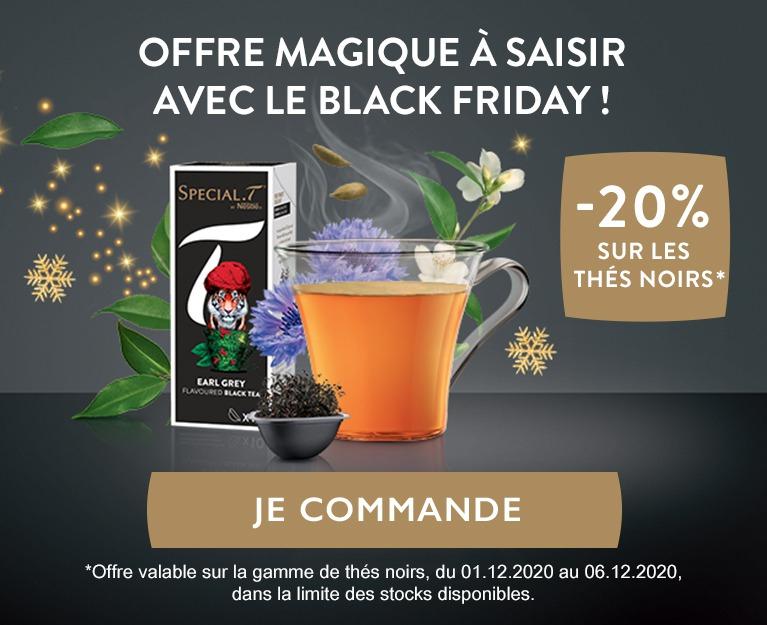 20% de réduction sur tous les thés noirs Special-T by Nestlé
