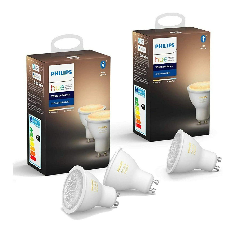 Lot de 3 ampoules connectées Philips Hue White Ambiance GU10