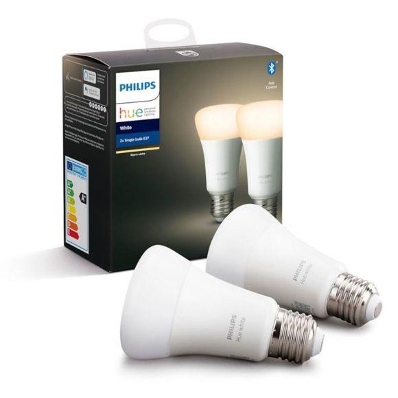 Pack de 2 ampoules connectées LED Philips Hue White E27