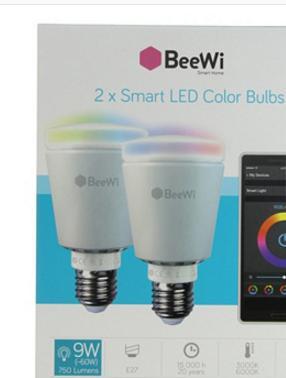 Lot de 2 ampoules LED connectées Beewi Bluetooth® E27 9 W