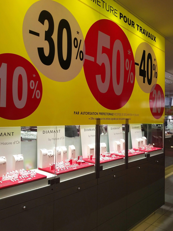 [Fermeture pour Travaux] De 10% à 50% de réduction sur tout le magasin - Ex : Collier en Or Blanc 375/1000