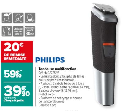 Rasoir-tondeuse multifonction Philips Series 500 MG5735/15