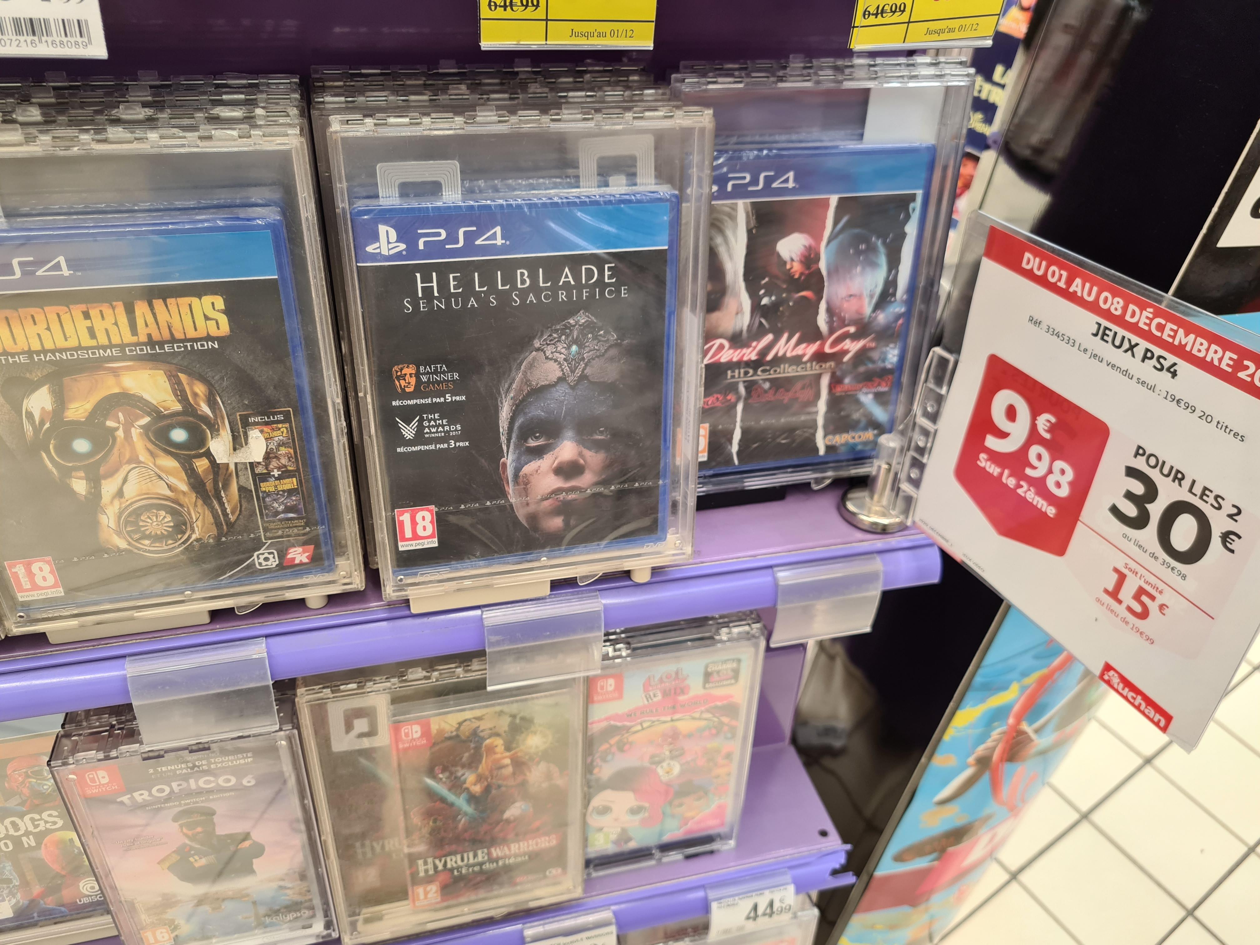 Lot de 2 jeux vidéo sur PS4 parmi une sélection pour 30€ - Saint-Sébastien-sur-Loire (44)